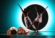 """Alvin Ailey Dancers rehearse """"EN"""" before its world premiere at the David H. Koch Theater Lincoln Center in New York City, New York on June 13, 2018."""