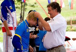 Winner Bernard Kerr (GBR) of Junior Men category at MTB Downhill European Championships, on June 14, 2009, at Kranjska Gora, Slovenia. (Photo by Vid Ponikvar / Sportida)