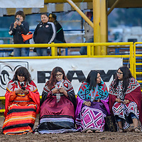 Southern California Bird singer dancers away the start of  the Miss Navajo coronation at the Navajo Nation Fairgrounds in Window Rock Saturday.