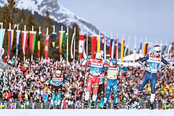 21.02.2019, Langlauf Arena, Seefeld, AUT, FIS Weltmeisterschaften Ski Nordisch, Seefeld 2019, Langlauf, Herren, Sprint, im Bild v.l.: Renaud Jay (FRA), Sindre Fabiani Skar (NOR), Federico Pellegrino (ITA), James Clugnet (GBR) // f.l.: Renaud Jay of France Sindre Fabiani Skar of Norway Federico Pellegrino of Italy James Clugnet of United Kingdom during the men's Sprint competition of the FIS Nordic Ski World Championships 2019. Langlauf Arena in Seefeld, Austria on 2019/02/21. EXPA Pictures © 2019, PhotoCredit: EXPA/ Dominik Angerer