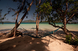 Hammock at Dolphin Beach, Turtle Island, Yasawa Islands, Fiji
