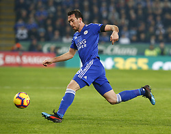 February 23, 2019 - Leicester, England, United Kingdom - Leicester City's Christian Fuchs.during English Premier League between Leicester City and Crystal Palace at King Power stadium , Leicester, England on 23 Feb 2019. (Credit Image: © Action Foto Sport/NurPhoto via ZUMA Press)