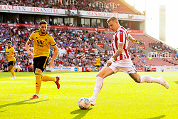 James McClean of Stoke City crosses the ball - Mandatory by-line: Robbie Stephenson/JMP - 25/07/2018 - FOOTBALL - Bet365 Stadium - Stoke-on-Trent, England - Stoke City v Wolverhampton Wanderers - Pre-season friendly