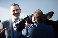 King Felipe of Spain visits to the Headquarters of Central Lechera Asturiana on January 22, 2018 in Granda-Siero, Principality of Asturias, Spain