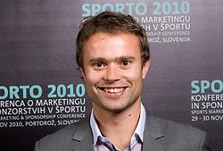 Jure Doler during Day two of Sporto  2010 - Sports marketing and sponsorship conference, on November 30, 2010 in Hotel Slovenija, Portoroz/Portorose, Slovenia. (Photo By Vid Ponikvar / Sportida.com)