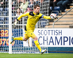 Falkirk's keeper Michael McGovern.<br /> Falkirk 3 v 1 Dundee, 21/9/2013.<br /> &copy;Michael Schofield.