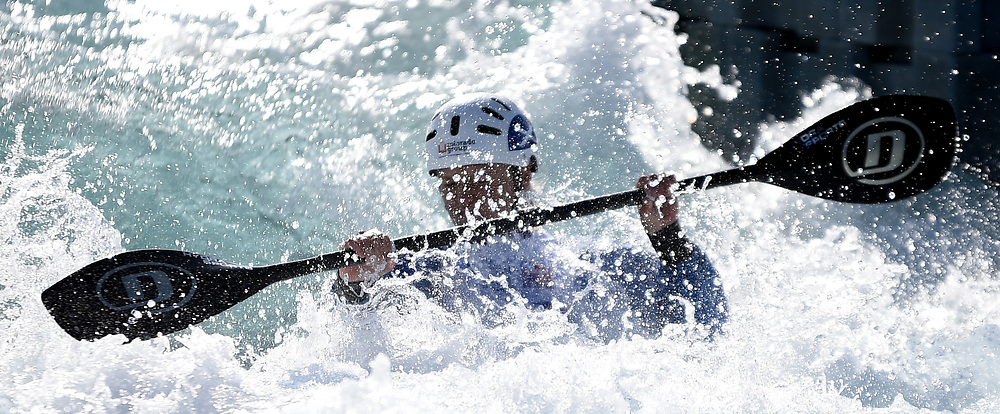 Warm up begin during the British Canoeing Team Selections Trials at the Lee Valley White Water Centre, Edmonton<br /> Picture by Hannah Fountain/Focus Images Ltd 07814482222<br /> 16/04/2017