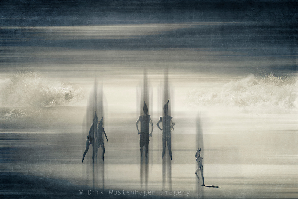 Scene from a beach - manipulated photography