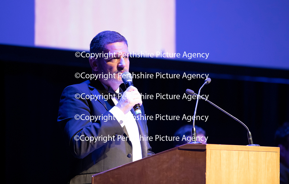 St Johnstone FC Hall of Fame Dinner, Perth Concert Hall….23.03.19<br />Chairman Steve Brown speaks<br />Copyright Perthshire Picture Agency<br />Tel: 01738 623350  Mobile: 07990 594431