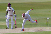Chris Rushworth (Durham County Cricket Club) in action during the LV County Championship Div 1 match between Durham County Cricket Club and Somerset County Cricket Club at the Emirates Durham ICG Ground, Chester-le-Street, United Kingdom on 9 June 2015. Photo by George Ledger.