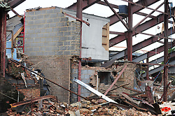 21/11/2017, FAMOUS K FLOODLIGHTS PULLED DOWN, Demolition of the Ground of Kettering Town Football Club, to make way for 88 Houses, the club was formed in 1872 and moved into the Rockingham Road