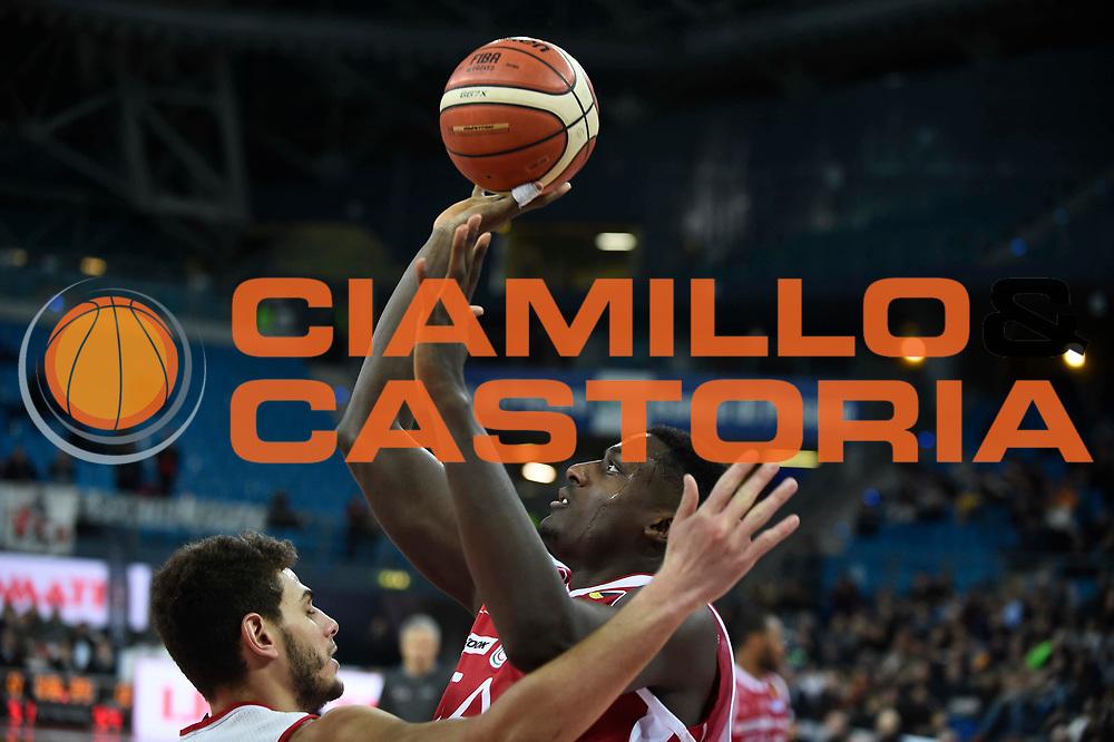 Abass Awudu<br /> Victoria Libertas Pesaro - EA7 Emporio Armani Milano<br /> Lega Basket Serie A 2017/2018<br /> Reggio Emilia, 16/12/2017<br /> Foto A.Giberti / Ciamillo - Castoria