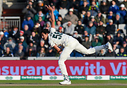Mitchell Starc of Australia bowling during the International Test Match 2019, fourth test, day two match between England and Australia at Old Trafford, Manchester, England on 5 September 2019.