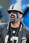 NASHVILLE, TN - NOVEMBER 29:  Fan of the Oakland Raiders cheers on his team during a game against the Tennessee Titans at Nissan Stadium on November 29, 2015 in Nashville, Tennessee.  The Raiders defeated the Titans 24-21.  (Photo by Wesley Hitt/Getty Images) *** Local Caption ***