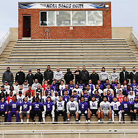 SALEM, VA - DECEMBER 14: University of Mount Union team photo during Stagg Bowl practice at Salem Stadium on December 14, 2017 in Salem,VA. (Photo by Steve Frommell, d3photography.com)