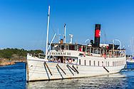 Skärgårdsbåten Waxholm III vid Sandhamn i Stockholms skärgård