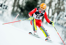 """Costazza Chiara (ITA) competes during FIS Alpine Ski World Cup 2014/15 5th Ladies' Slalom race named """"Snow Queen Trophy 2015"""", on January 4, 2015 in Course Crveni Spust at Sljeme hill, Zagreb, Croatia.  Photo by Vid Ponikvar / Sportida"""