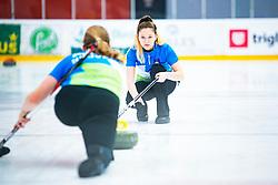 GREGORI Liza and ZAVELJCINA Ajda during Curling Training session U15 on November 24, 2019 in Arena Podmezakla Hall, Ljubljana, Slovenia. Photo by Peter Podobnik / Sportida