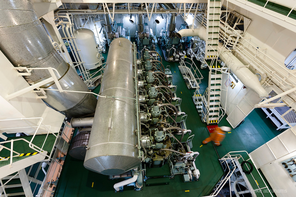 Atalanta Bulk Carrier, owned by Neda, docked at Southampton, UK. Unloading cargo of Soya. May 2011