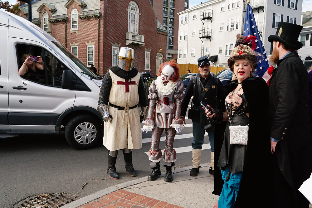 USA, MA, Salem, 31 October 2017. Halloween celebration in Salem.