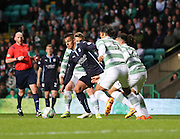 Dundee's Luka Tankulic takes on Celtic&rsquo;s Virgil van Dijk -  Celtic v Dundee - SPFL Premiership at Celtic Park<br /> <br /> <br />  - &copy; David Young - www.davidyoungphoto.co.uk - email: davidyoungphoto@gmail.com