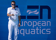 Referee Ivan RAKOVIC (SRB)<br /> ISR - NED  Israel (white caps) vs. Netherlands (blue caps) <br /> Barcelona 15/07/18 Piscines Bernat Picornell <br /> Women qualification<br /> 33rd LEN European Water Polo Championships - Barcelona 2018 <br /> Photo Pasquale Mesiano/Deepbluemedia/Insidefoto