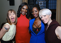 Edinburgh International Film Festival 2019<br /> <br /> Boyz In The Wood (European Premiere)<br /> <br /> Stars and guests enjoy the after party<br /> <br /> Pictured: Kate Dickie, Moyo Akande, Morayo Akande and Shauna MacDonald<br /> <br /> Alex Todd | Edinburgh Elite media