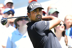 June 24, 2017 - Cromwell, Connecticut, U.S - Anirban Lahiri tees off the first tee during the third round of the Travelers Championship at TPC River Highlands in Cromwell, Connecticut. (Credit Image: © Brian Ciancio via ZUMA Wire)