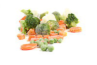 Close-up of frozen food<br /> vegetables