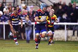 Jordan Crane of Bristol Rugby breaks away before scoring a try  - Mandatory by-line: Dougie Allward/JMP - 30/12/2017 - RUGBY - The Athletic Ground - Richmond, England - Richmond v Bristol Rugby - Greene King IPA Championship