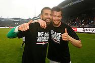 22-05-2016 VOETBAL: WILLEM II - NAC BREDA:TILBURG<br /> Promotie/degradatiewedstrijd<br /> Doelman Kostas Lamprou van Willem II (L) en Erik Falkenburg van Willem II (R)<br /> Foto: Geert van Erven