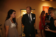 Ines de Bordas and Harry Fane, Treasures From The Gem Palace, Private view of gem stones created by a family of Indian court jewellers from Jaipur (the Kasliwals). Somerset House, London, WC2, 28 September 2006. www.somerset-house.org.uk-DO NOT ARCHIVE-© Copyright Photograph by Dafydd Jones 66 Stockwell Park Rd. London SW9 0DA Tel 020 7733 0108 www.dafjones.com