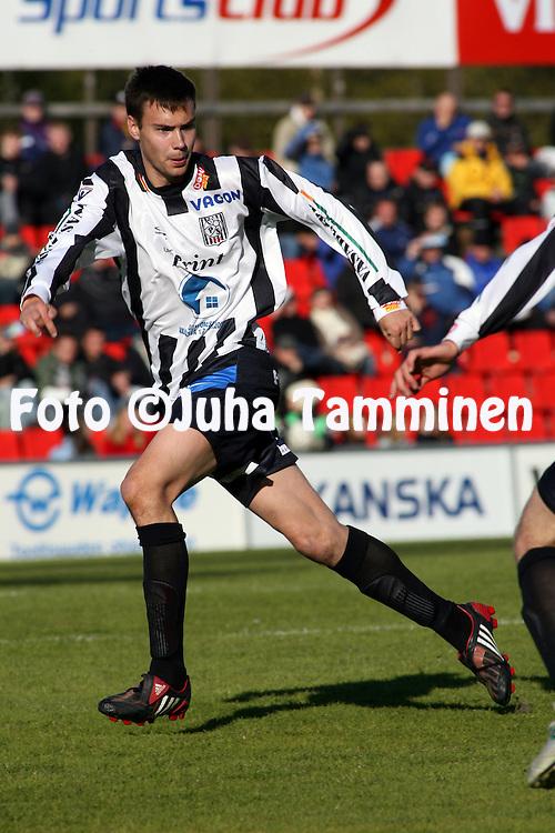 18.05.2008, Hietalahti, Vaasa, Finland..Veikkausliiga 2008 - Finnish League 2008.Vaasan Palloseura - Kuopion Palloseura.Tim Sparv - VPS.©Juha Tamminen.....ARK:k