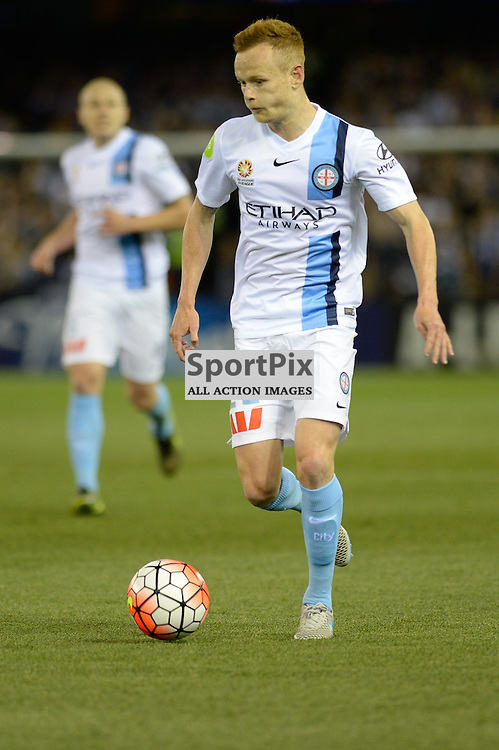"Jack Clisby of Melbourne City - Hyundai A-League - October 17th 2015 - ROUND 2- Melbourne Victory FC v Melbourne City FC in the first derby for the 2015 season with a 3:2 win to Victory on the 90"" - © Mark Avellino 