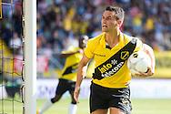BREDA, NAC Breda - ADO Den Haag, voetbal Eredivisie, seizoen 2013-2014, 18-08-2013, Rat Verlegh Stadion, NAC Breda speler Alex Schalk heeft de 1-1 gescoord uit een penalty.