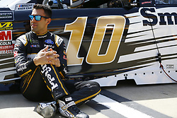 April 13, 2018 - Bristol, Tennessee, United States of America - April 13, 2018 - Bristol, Tennessee, USA: Aric Almirola (10) hangs out by his car before opening practice for the Food City 500 at Bristol Motor Speedway in Bristol, Tennessee. (Credit Image: © Chris Owens Asp Inc/ASP via ZUMA Wire)