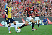 21.04.2013 Sydney, Australia. Wanderers Japanese midfielder Shinji Ono in action during the Hyundai A League grand final game between Western Sydney Wanderers FC and Central Coast Mariners FC from the Allianz Stadium.Central Coast Mariners won 2-0.