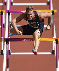 August 12, 2017 - London, England - LONDON , UNITED KINGDOM  - AUGUST 12 : Kevin Mayer of France pictured during 110 M hurdles heat 1 at the16th IAAF World Athletics championships from august 4 till 13, 2017 in London ,United Kingdom, 12/08/2017 (Credit Image: © Panoramic via ZUMA Press)