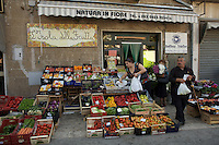 Market day in San Clemente, the the Campania region near Naples, Italy