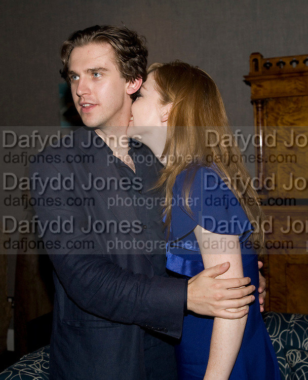 DAN STEVENS AND SUSIE HARIET,  'Cries from the Heart' presented by Human Rights Watch at the Theatre Royal Haymarket. London. Party afterwards at the Haymarket Hotel. June 8, 2008 *** Local Caption *** -DO NOT ARCHIVE-© Copyright Photograph by Dafydd Jones. 248 Clapham Rd. London SW9 0PZ. Tel 0207 820 0771. www.dafjones.com.