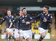 Dundee's Peter MacDonald celebrates after opening the scoring - Livingston v Dundee - SPFL Championship at Almondvale <br />  - &copy; David Young - www.davidyoungphoto.co.uk - email: davidyoungphoto@gmail.com