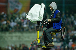 Cameraman at  the 2010 FIFA World Cup South Africa Qualifying match between Slovakia and Slovenia, on October 10, 2009, Tehelne Pole Stadium, Bratislava, Slovakia. Slovenia won 2:0. (Photo by Vid Ponikvar / Sportida)