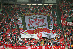 CARDIFF, WALES - SATURDAY, MAY 13th, 2006: Liverpool's fans before the 125th FA Cup Final against West Ham United at the Millennium Stadium. (Pic by David Rawcliffe/Propaganda)