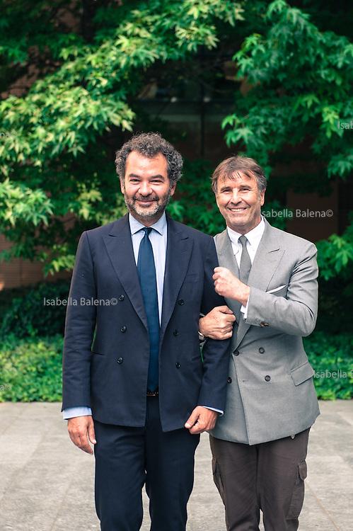 Remo Ruffini, Moncler and Brunello Cucinelli. Milan, Sole24ore