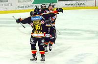 Hockey UPC-liga 3. finale TIK - VIF 3-1<br /> Jubel for Lars Erik Spets sin scoring til 3-1<br /> Foto: Carl-Erik Eriksson, Digitalsport