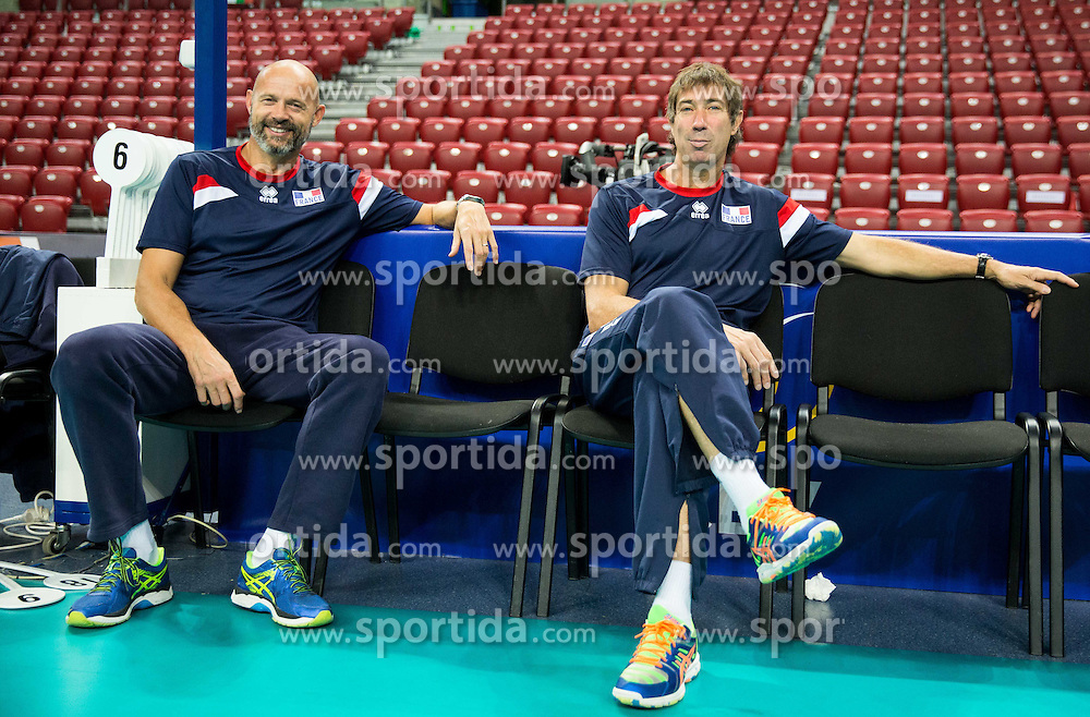Laurent Tillie, head coach of France during practice session of French team in the morning of Final day of  2015 CEV Volleyball European Championship - Men, on October 18, 2015 in Arena Armeec, Sofia, Bulgaria. Photo by Vid Ponikvar / Sportida