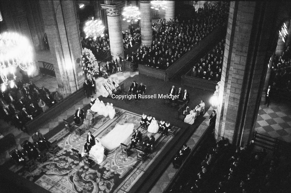Picture taken from the balcony of Notre Dame during the wedding.<br /> <br /> <br /> Photo prise depuis le balcon de  Notre Dame de Paris durant la ceremonie de mariage .