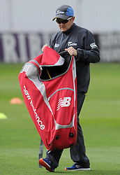 New Zealand Head Coach Mike Hesson Photo mandatory by-line: Harry Trump/JMP - Mobile: 07966 386802 - 09/05/15 - SPORT - CRICKET - Somerset v New Zealand - Day 2- The County Ground, Taunton, England.