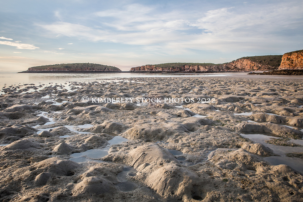 Low tide exposes extensive mudflats at Macelay Island on the Kimberley coast.