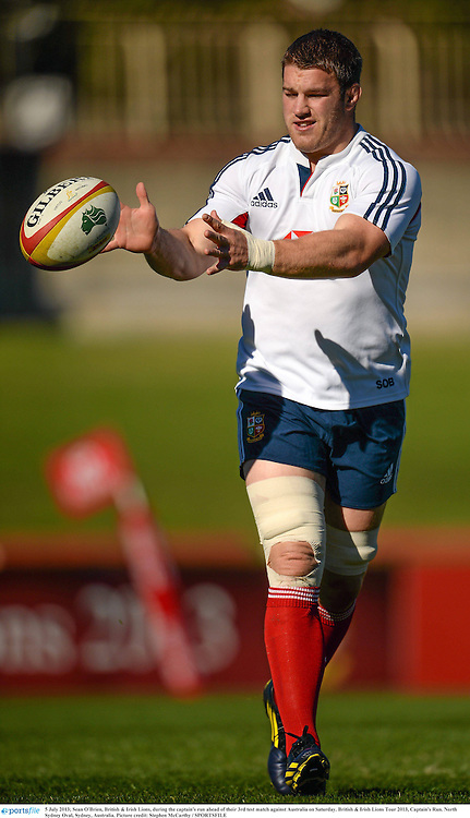 5 July 2013; Sean O'Brien, British & Irish Lions, during the captain's run ahead of their 3rd test match against Australia on Saturday. British & Irish Lions Tour 2013, Captain's Run. North Sydney Oval, Sydney, Australia. Picture credit: Stephen McCarthy / SPORTSFILE